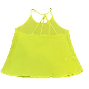 Forever 21 Chiffon Camisole Tank Top Yellow Size S
